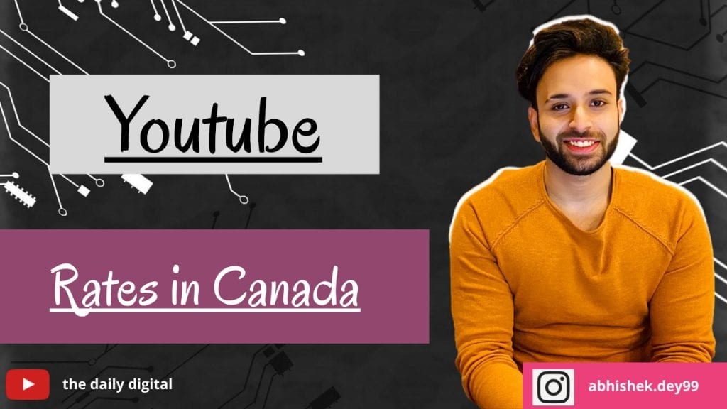 YouTube CPM Rates in Canada