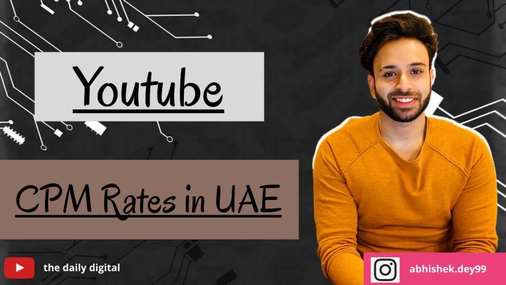 YouTube CPM Rates in UAE