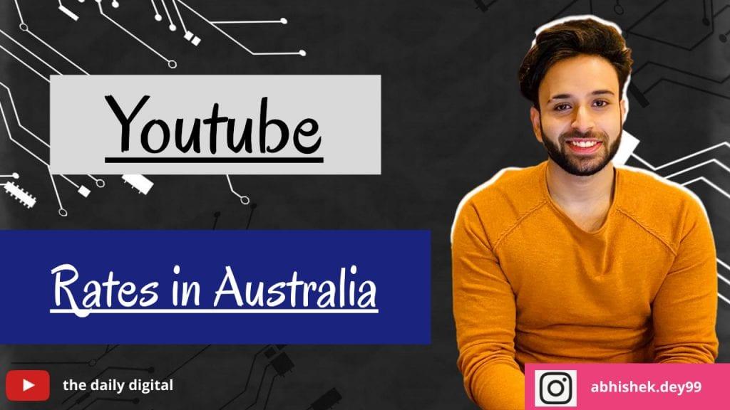 YouTube CPM Rates in Australia